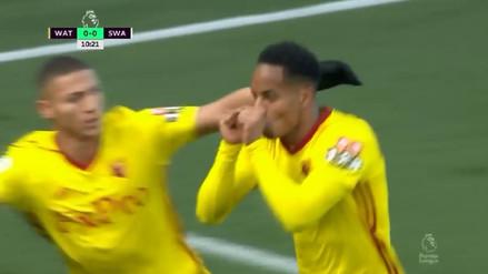 André Carrillo anotó su primer gol con la camiseta del Watford