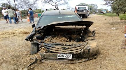 Un muerto y tres heridos tras choque entre auto y mototaxi en Chulucanas