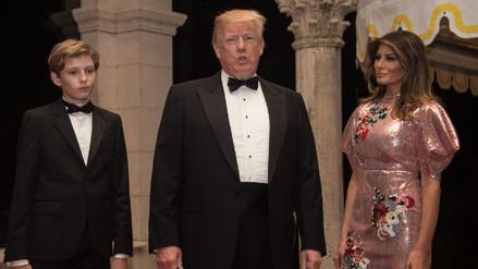Trump despidió su primer año de presidente en su club de golf