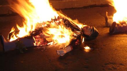Chiclayo: sancionan a 10 ciudadanos por quemar muñecos en La Victoria