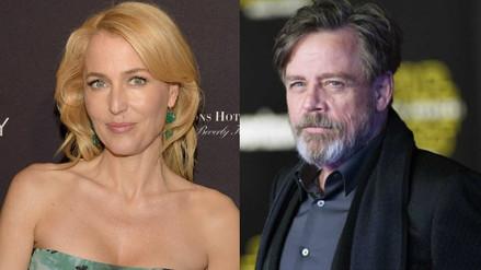 Mark Hamill y Gillian Anderson recibirán estrella en paseo de la fama