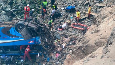Fiscalía abrió investigación para determinar causa del accidente de Pasamayo
