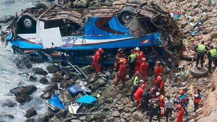 El Minsa reportó 51 muertos en accidente del serpentín de Pasamayo