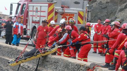 Recuperaron todos los cuerpos del bus accidentado en el serpentín Pasamayo