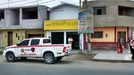 Desconocidos asaltan por tercera vez farmacia de Chimbote