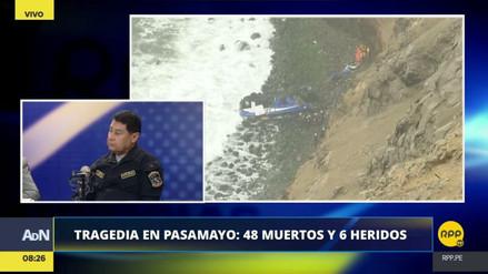 Buscan remolcar el bus siniestrado para rescatar los cadáveres atrapados