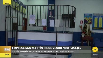 Accidente en Pasamayo: la empresa San Martín sigue vendiendo pasajes