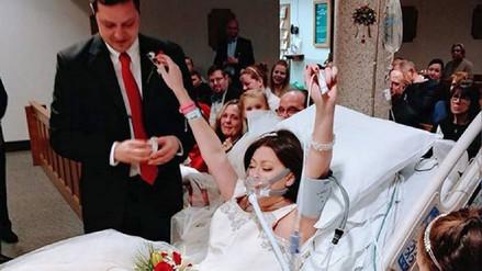 """Una novia dio el """"sí, quiero"""" horas antes de morir por cáncer de mama"""