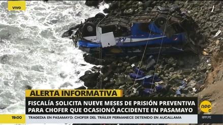 Fiscalía pidió 9 meses de prisión preventiva contra chofer del tráiler que habría ocasionado accidente