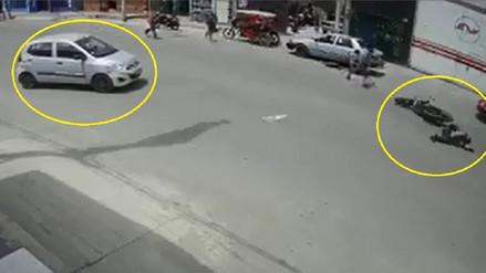 Video muestra cómo vehículo arrolló a policía de tránsito en Chiclayo