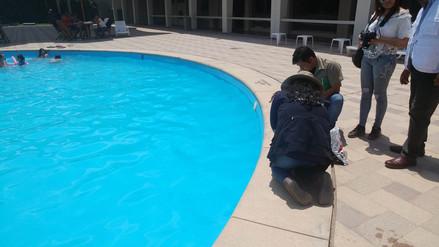 Realizan operativos en piscinas para verificar niveles de cloro