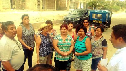 Piuranos protestan por obra de reconstrucción paralizada hace seis meses