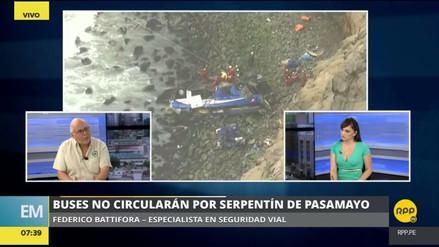 """Experto en seguridad vial: """"Yo clausuraría el serpentín de Pasamayo"""""""