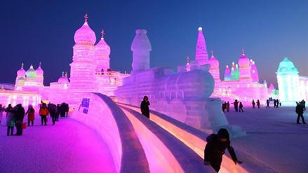 China inauguró el espectacular festival de hielo y nieve de Harbin