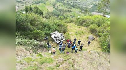 Despiste y vuelco de combi deja nueve heridos en Bambamarca