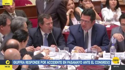 """Bruno Giuffra a Yonhy Lescano: """"Me río de lo que usted dice"""""""