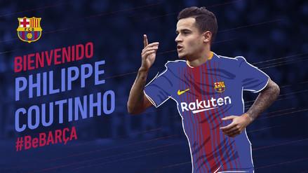 Barcelona fichó a Philippe Coutinho por 120 millones de euros