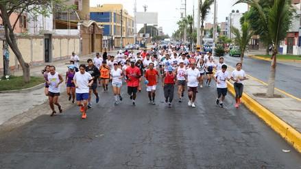 Trujillo: ciudadanos participan en trote motivacional por visita papal