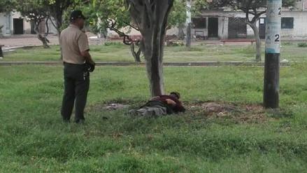 Hallan a indigente muerto en parque San Jorge de Leonardo Ortiz
