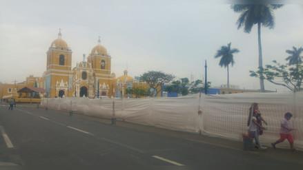 Retirarán cerco de Plaza de Armas de Trujillo en medio de críticas