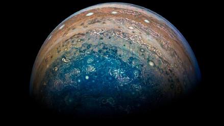 La NASA reveló nuevas imágenes que la sonda Juno captó del movimiento de Júpiter