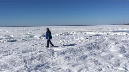 Video | El frío ártico también congeló el océano Atlántico
