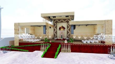 Así lucirá el escenario donde el Papa Francisco oficiará misa en Huanchaco