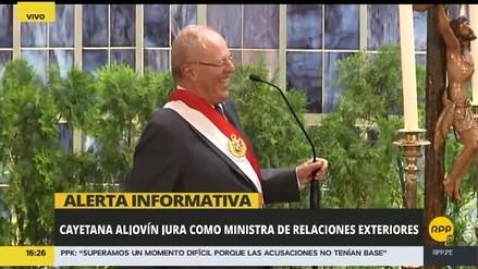 PPK confundió la cartera ministerial de Cayetana Aljovín en la juramentación