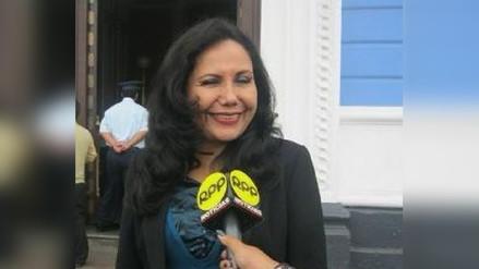 Congresista Gloria Montenegro rechazó ser ministra de la Mujer