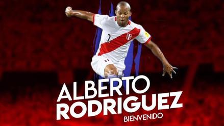 Alberto Rodríguez fue presentado como refuerzo del Junior de Colombia