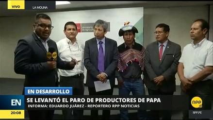 El Minagri anunció el levantamiento del paro de productores de papa