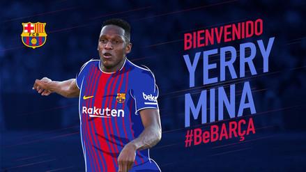 Barcelona fichó al colombiano Yerry Mina por 11.8 millones de euros