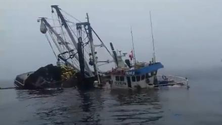Salaverry: 17 pescadores salvan de morir tras choque de dos embarcaciones