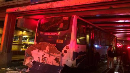 Magdalena: accidente de bus dejó 23 heridos en la avenida Brasil