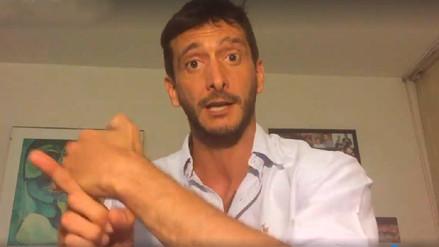 Edu Saettone hizo sus descargos en un video antes de entregarse a la Policía