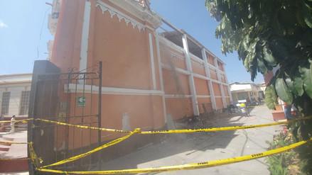 Capilla del hospital Las Mercedes se volvió a desplomar
