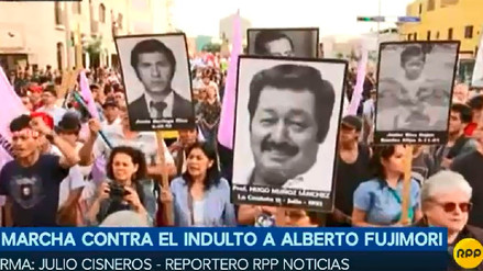 Miles marcharon contra el indulto a Alberto Fujimori en todo el país