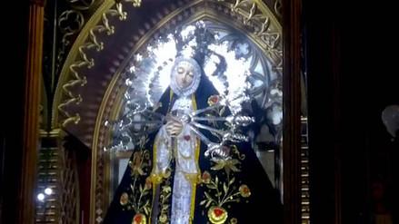 Policías custodiarán a Virgen de Los Dolores en su viaje a Trujillo