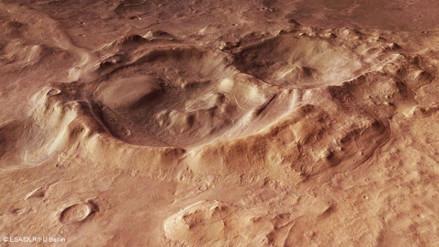 Marte alberga varios depósitos ricos en agua helada