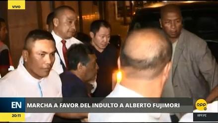 Kenji Fujimori participó de la marcha en apoyo al indulto de su padre