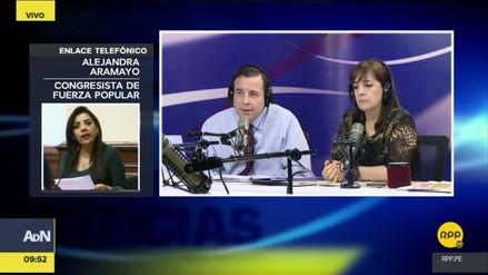 """Aramayo sobre Lescano: """"Quiere jalarse gente del fujimorismo a su bancada"""""""