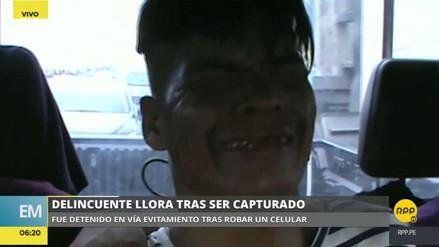 'Satanás' se puso a llorar tras ser detenido en el Cercado de Lima