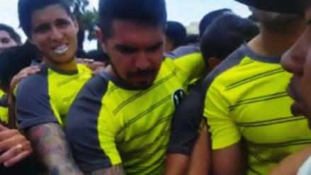 Juan Vargas y la barra de Universitario realizaron una arenga
