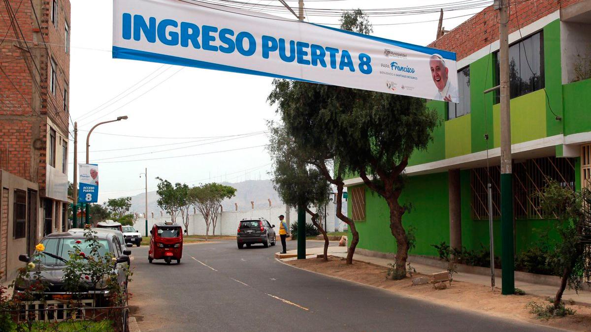 La base Las Palmas tiene 17 accesos para la misa del papa Francisco en Lima