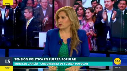 Maritza García aseguró que más congresistas de Fuerza Popular