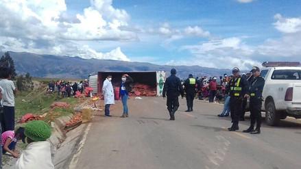 Despiste de camión dejó tres muertos y 13 heridos en Chupaca
