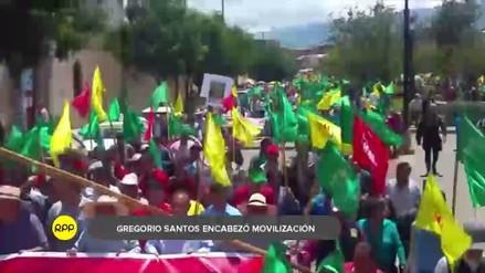 Gregorio Santos lideró marcha contra el indulto a expresidente Alberto Fujimori
