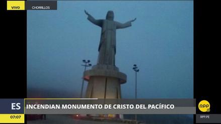 Un incendio dañó la estatua del Cristo del Pacífico en Chorrillos