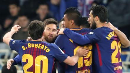 Barcelona remonta dos goles y se hace más líder tras ganar en Anoeta