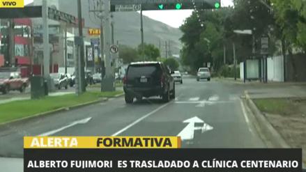 Alberto Fujimori fue trasladado de emergencia a la clínica Centenario